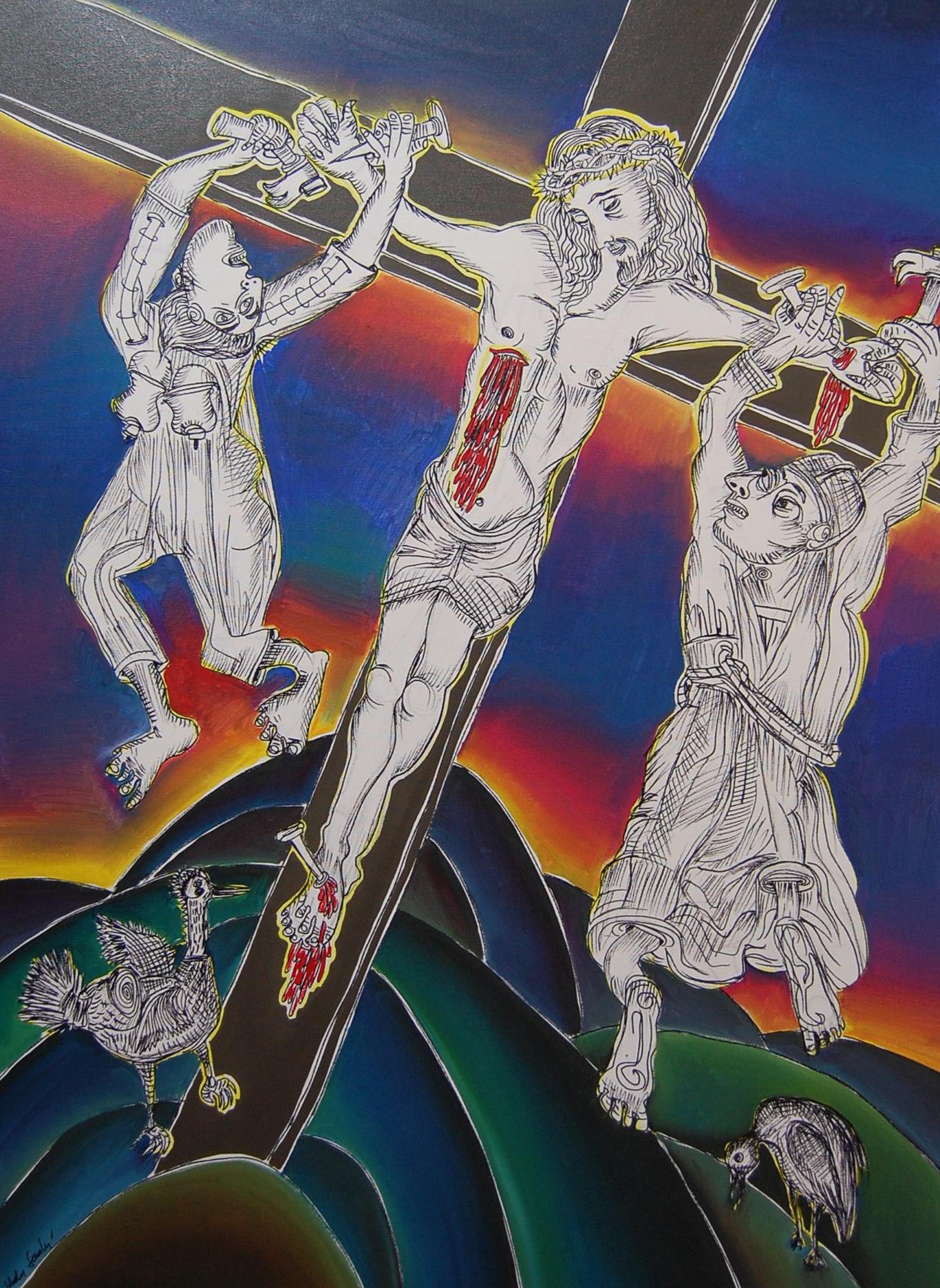 Ato 11 – Jesus pregado na cruz